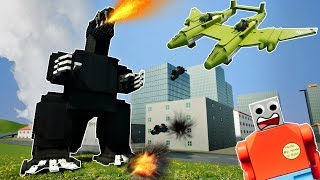 LEGO GODZILLA DESTROYS CITY! - Brick Rigs Gameplay Challenge & Creations