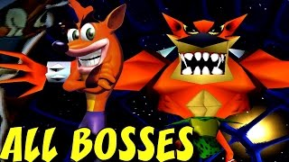 Crash Bandicoot 2 - All Bosses (No Damage)