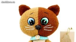 Амигуруми: схема Двухцветный котёнок. Игрушки вязаные крючком - Free crochet patterns.