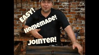 Simple Jig!  Homemade Diy Jointer