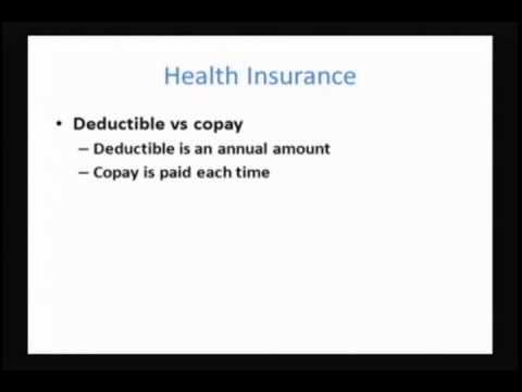 Personal Finance: Class 4 - Insurance