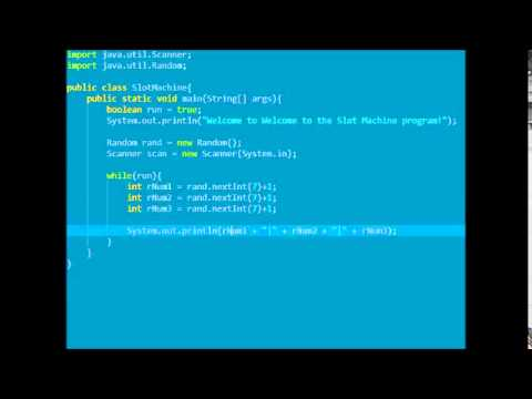 Java Tutorial 1 Slot Machine - YouTube