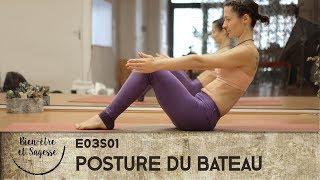 tutoriel yoga débutant : Bakasana prep - La posture du bateau (navasana) - 3/4