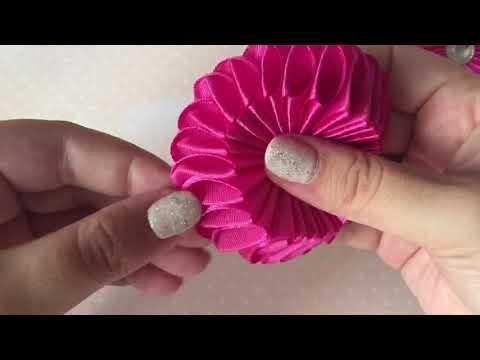 Видео резиночки для волос своими руками из атласных лент