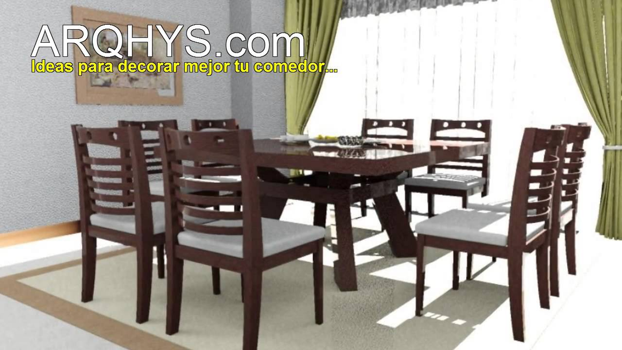 Los colores ideales para decorar tu comedor youtube for Decorar vitrina de comedor