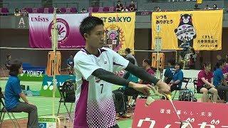 宮本 樹希(石川) vs 桃田 賢斗(東京)MS ベスト16【社会人バド2017】