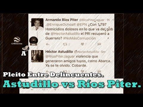 Pleito en Twitter entre dos delincuentes, Ríos Piter y Héctor Astudillo.