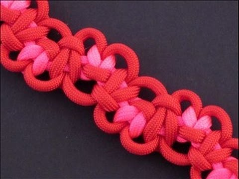 How To Make The Tumbling Hearts Bar Paracord Bracelet By