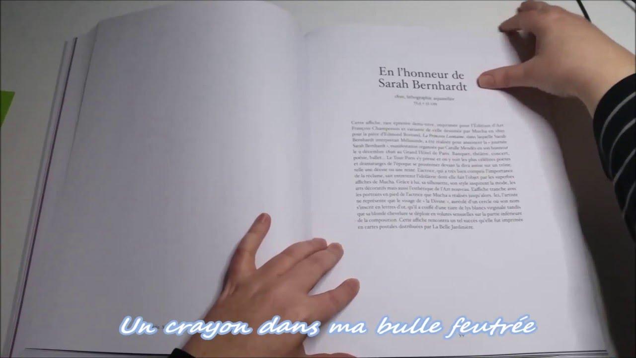 Présentation du livre Cahier de coloriages Alfons MUCHA CHENE
