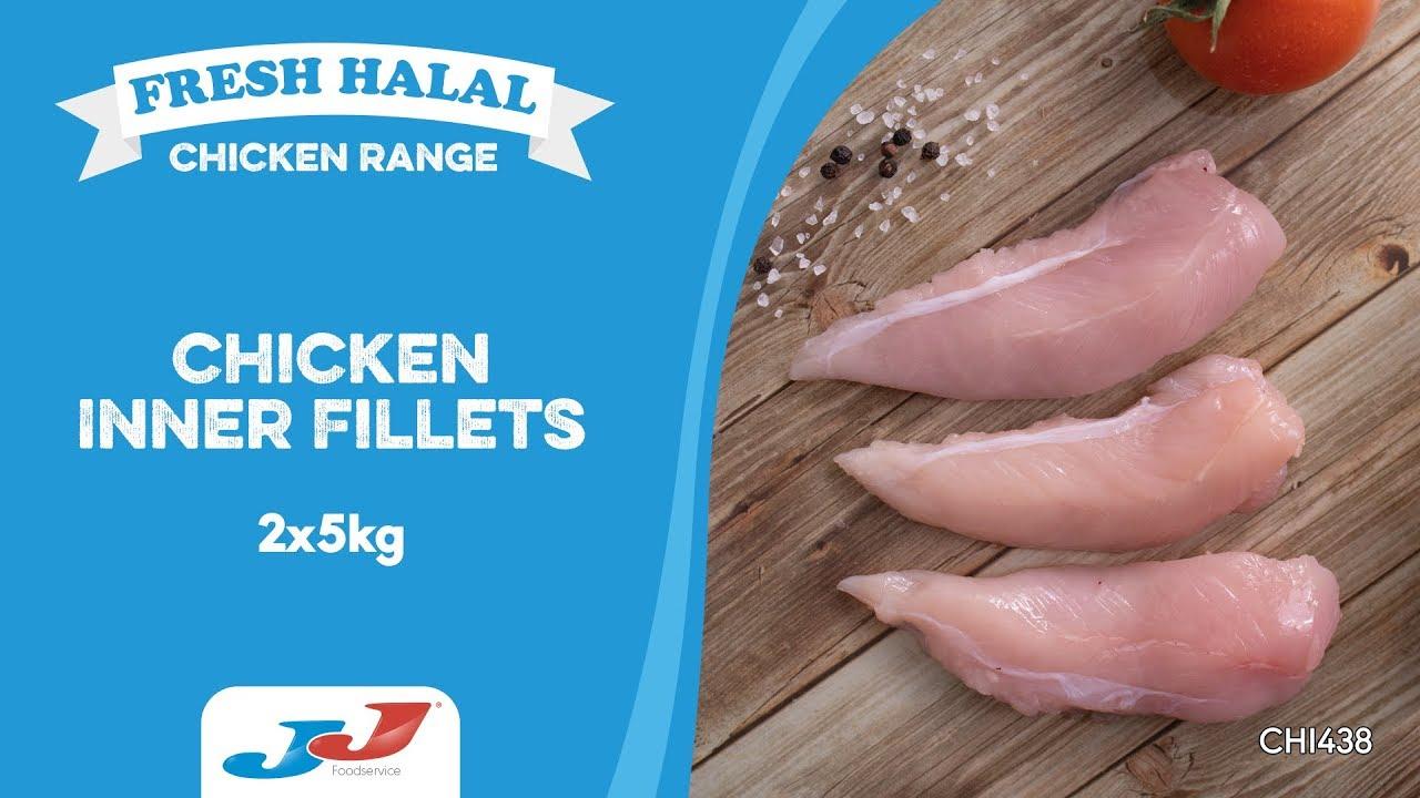 JJ Fresh Halal Chicken Inner Fillets 2x5kg (10kg)