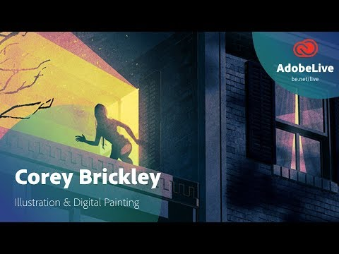 Live Illustration & Digital Painting with Corey Brickley 2/3