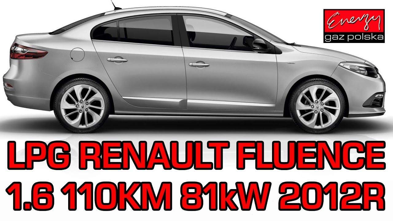 Montaż LPG Renault Fluence z 1.6 110KM 2012r na gaz Landi Renzo w Energy Gaz Polska