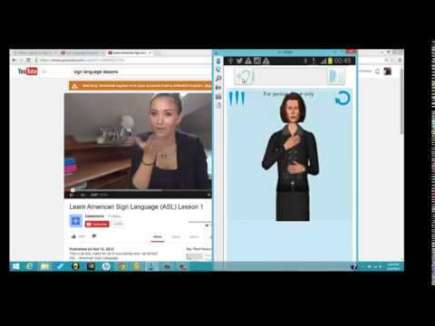 Sign Language Translation app: Mimix Demo