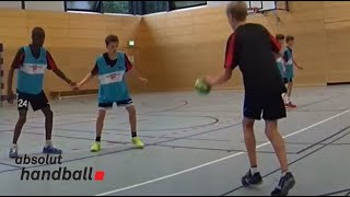Handball Defence training