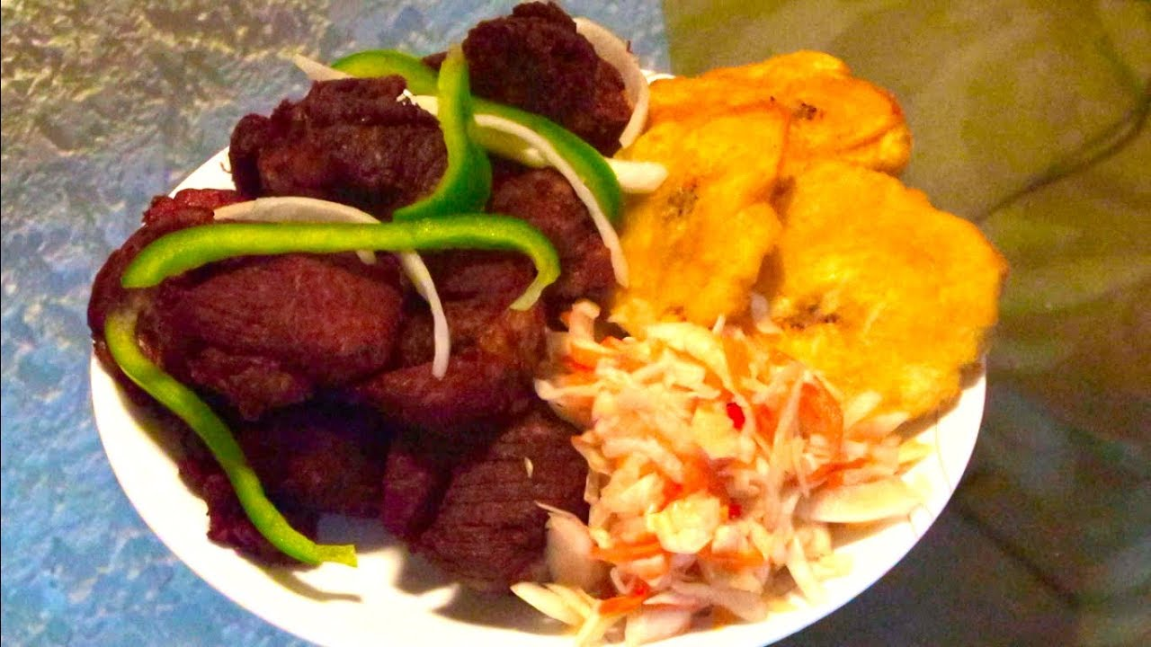 How To Make Haitian Griot And Plantain - YouTube