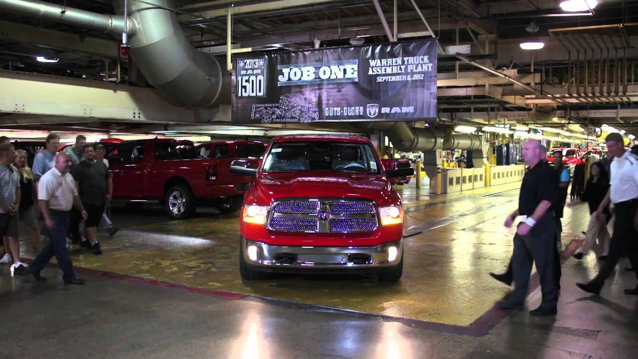 First 2013 Ram 1500 off the production line - YouTube