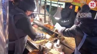 부산 남포동 비프광장 씨앗호떡 / 4k / Busan  Nampodong Hotteog / korea street food