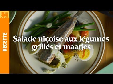 Salade niçoise aux légumes grillés et aux maatjes