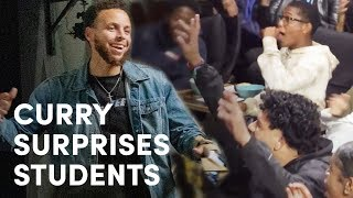 Injured Stephen Curry Gives High School Kids Surprise of a Lifetime