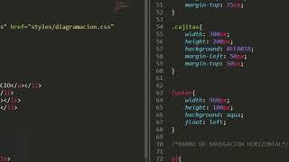 barra de navegación horizontal con html y css