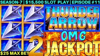 2 Handpay JACKPOTS On NEW Thunder Arrow Konami Slot Machine | OMG-NG | SEASON-7 | EPISODE #11