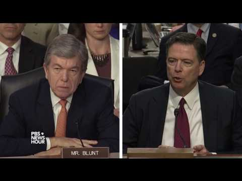 Sen. Blunt asks Comey why he didn't act after Trump's requests