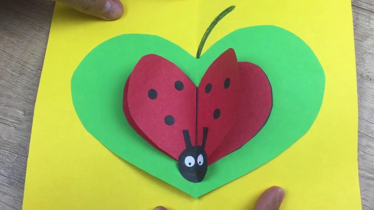 Mother S Day Lovely Gift Card Easy Diy For Children Youtube