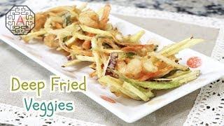 Korean Deep-fried Veggies And Shrimp (야채 튀김, YaChae TwiGim) | Aeri's Kitchen