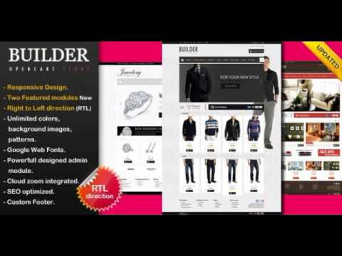 opencart template builder - preview builder premium opencart theme shopping youtube