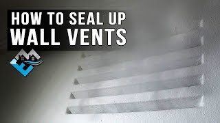 Wall Vents Remove Them Reduce Draughts And Save Energy Youtube