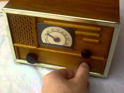 50's home made regenerative audion tube radio from Hungary