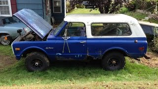 FIRST START IN 10 YEARS 1972 CHEVY BLAZER PROJECT