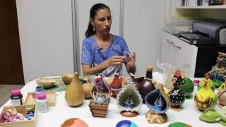 Artesanato em Cabaça com Ana Maria Sena