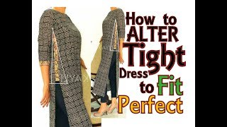 Alteration / Resizing from Tight dress to fit Perfectly | DIY | Convert OLD 2 NEW - 2