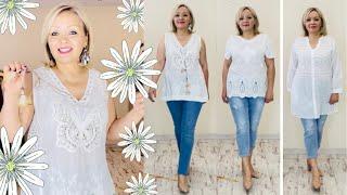 Тренды лето 2021 Потрясающие блузки из хлопка модные джинсы брюки шорты и платья