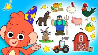 Club Baboo | ABC Animals on the farm | Learn animal names and sounds for kids!