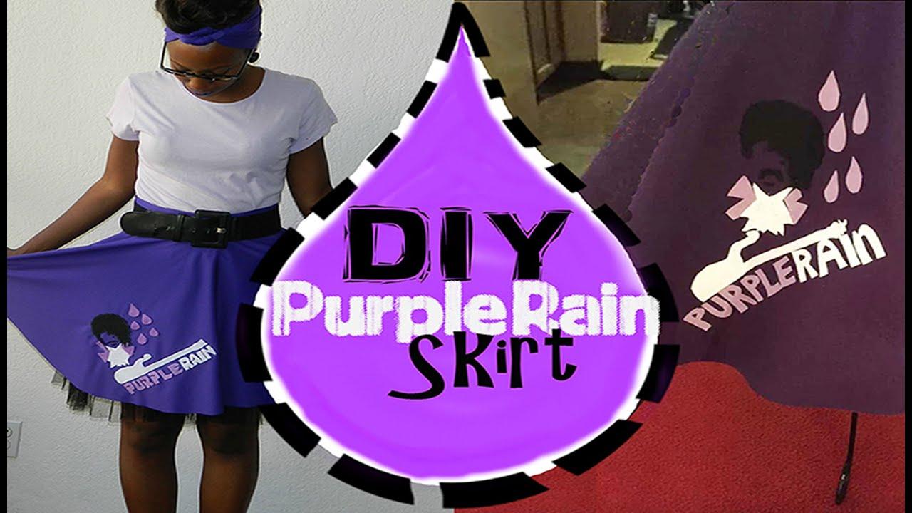 DIY Purple Rain Prince Poodle Skirt