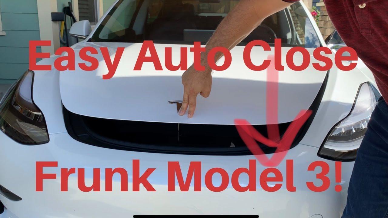 Easy Auto Close Frunk Tesla Model 3!