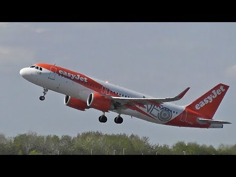 EasyJet A320NEO G-UZHE departing 23R Manchester Airport | May 2018