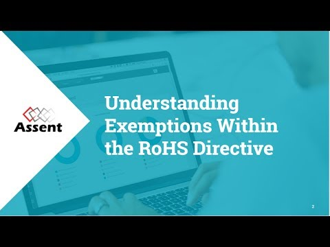 [WEBINAR] Understanding Exemptions Within the RoHS Directive