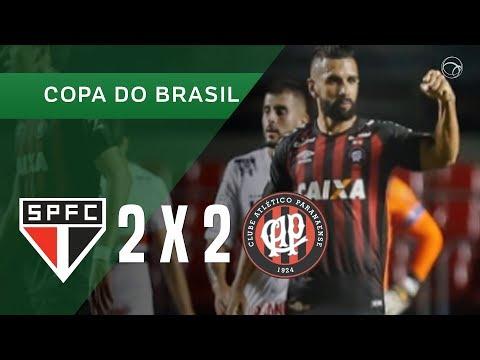SÃO PAULO 2 X 2 ATLÉTICO-PR - 19/04 - COPA DO BRASIL 2018