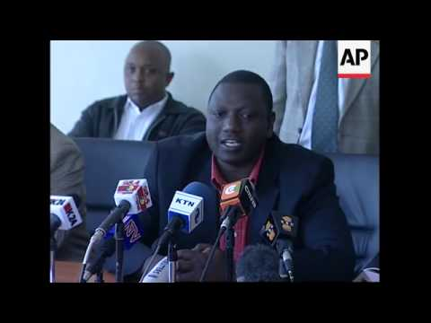 News conference by opposition party ODM