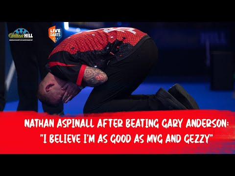"Nathan Aspinall after beating Gary Anderson: ""I believe I'm as good as MVG and Gezzy"""