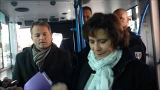 Test de trajet du bus électrique à Château-du-Loir