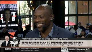 Terrell Owens CONFIDENT ESPN: Raiders plan to suspend Antonio Brown   FIRST TAKE 9/6