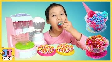 구슬 아이스크림을 만들어 먹어봤어요.시크릿 아트 구슬 아이스크림 메이커 장난감 놀이 [제이제이 튜브-JJ tube]