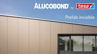 ALUCOBOND® Prefab invisible | Bonded installation system with façade elements