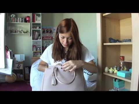 pink leather prada - PRADA: Saffiano Lux Tote BN2274 REVIEW - YouTube