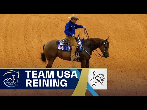 Team USA wows the Reining crowd at Tryon2018  Reining  FEI World Equestrian Games 2018