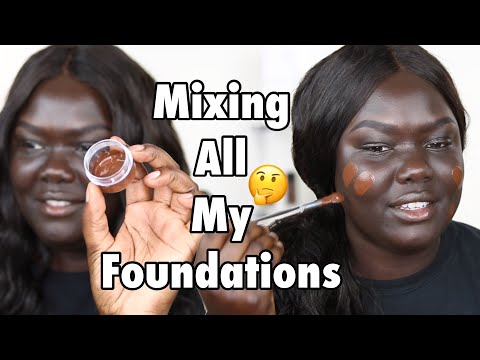 MIXING TOGETHER ALL MY FOUNDATIONS! || Nyma Tang